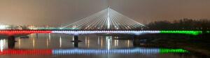 Most w barwach stołecznego klubu