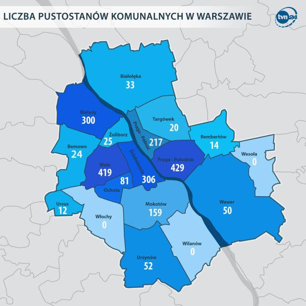 Ponad dwa tysiące miejskich pustostanów tvnwarszawa.pl