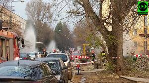 Koparka uszkodziła gazociąg na Mokotowie. Ewakuacja szkoły