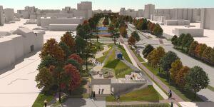 Tak ma wyglądać park nad tunelem obwodnicy