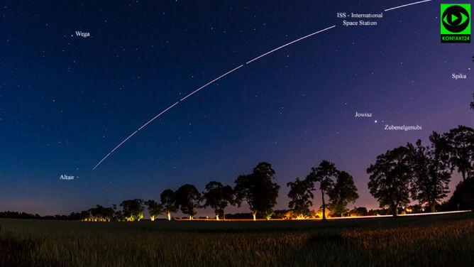 Uwaga, leci ISS! <br />Sprawdź, kiedy patrzeć w niebo