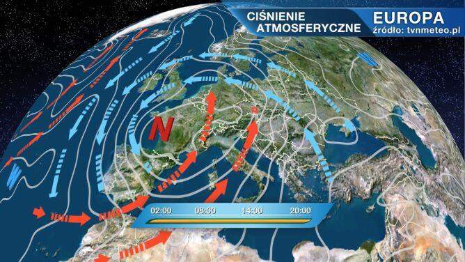 Rozległy niż wpływa na pogodę w Polsce