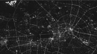 Największe nocne zdjęcie w historii. Berlin zanieczyszczony światłem
