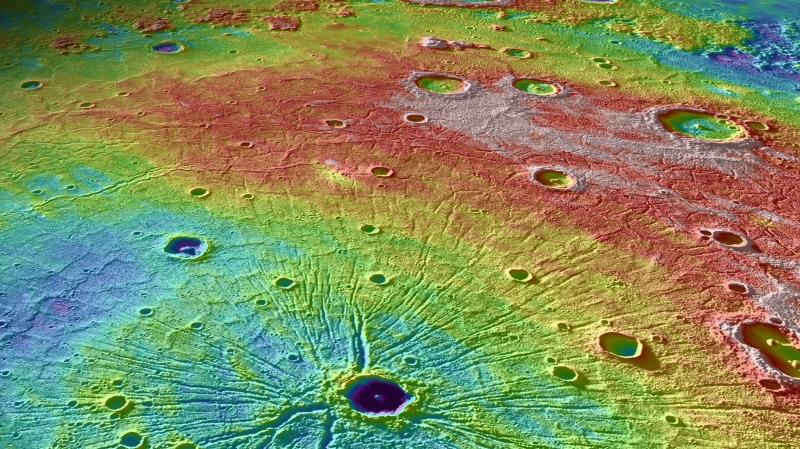 Powierzchnia Merkurego - misja Messenger (NASA/Mark Garcia)