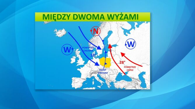 Wyże i niże kształtujące polską pogodę