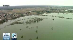 Rośnie poziom Wisły w Płocku (TVN24)